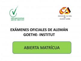 ABIERTA MATRICULA EXAMENES OFICIALES 2015